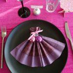 салфетка- сиреневое платье