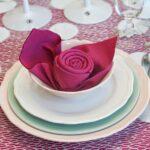 салфетка-роза