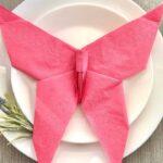 бумажная салфетка- бабочка
