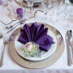 фиолетовые салфетки