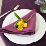 лиловая салфетка