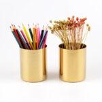 как сделать золотую карандашницу