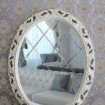 покраска зеркала в белый цвет