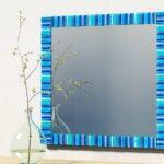 синяя рамка для зеркала