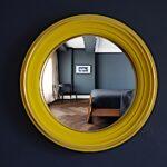 желтая рама для зеркала