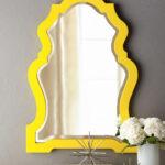 как покрасить зеркало в желтый цвет