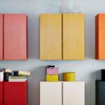 крашенные шкафы на кухне