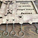 рамка для ключей из фанеры