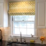 желтые шторы