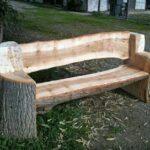 скамейка из цельного бревна