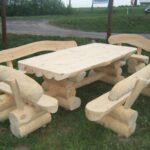 деревянные бревна для изготовления мебели