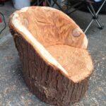 кресло-бревно - процесс изготовления