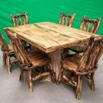 деревянный стол и стулья - схема