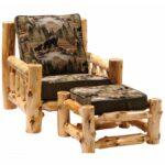 кресло мягкое из бревна
