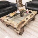 варианты интерьера с мебелью из бревен