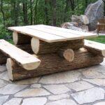 простой способ изготовления стола из бревна