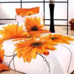 постельное с герберами