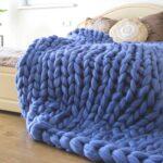 одеяло из смесовой пряжи